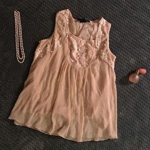 3ca704dd56a8f Denim 24 7 blush pink top size 14W
